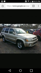 2001 infinity QX4 for parts