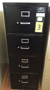 4 Drawer Vertical Filing Cabinets.