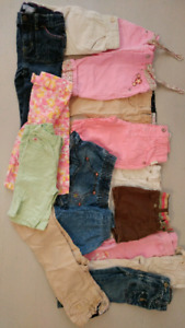 12 months girl cloth 25 pieces.