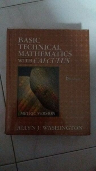 Book - Basic Technical Mathematics with Calculus (6th Edition)