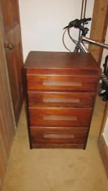 Beautiful dark box wood chest of drawers