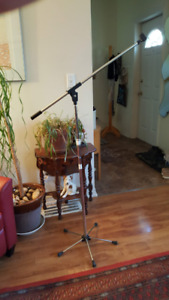 Realistic Microphone Stand with Boom