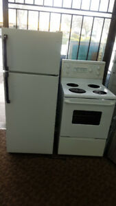 """APARTMENT SIZE FRIDGE AND STOVE 24"""" WITH WARRANTY"""