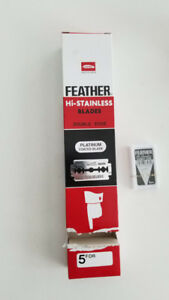 QUICK SALE! FEATHER Shaving Blades, double edge, platinum coated