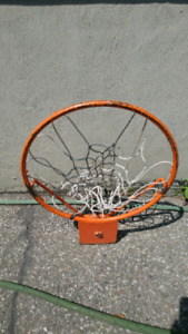 Basketball net with added hoop