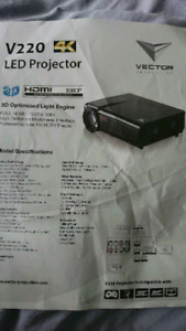 Vector projection LED Projector and Screen