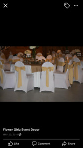 Chair Covers, Linens, and more