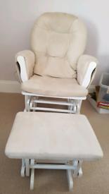 Breastfeeding nursing rocking chair and stool