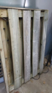 fence gate - 15 years old - pressure treated wood - free