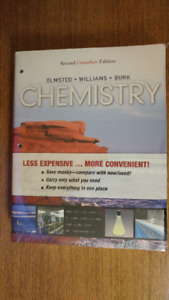 University of Manitoba Chemistry textbook, New and sealed