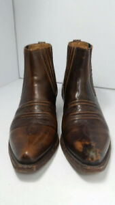 THE LEATHER RANCH - cowboy's boots - men size 10 or 44