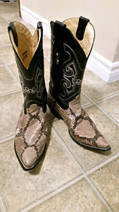 Genuine Python Corral Boots
