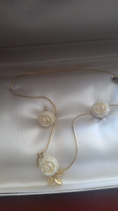 Necklace/ Clip earring set