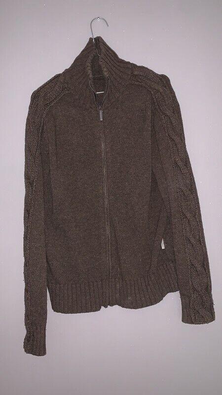 Pull gilet zippé en laine vierge givenchy tm