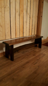 Hardwood live edged bench.