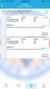 Blue jay tickets