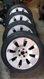 "AUDI VW 17"" WINTER RIMS WITH NEW TIRES, $750 Oakville / Halton Region Toronto (GTA) image 1"