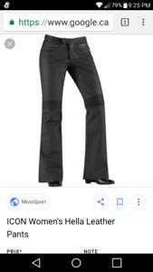 Pantalon cuir Icon femme