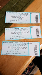 City and Colour Tickets Decoste