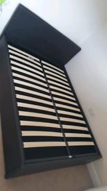 Black ottoman bed