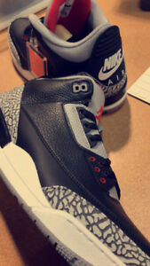 Air Jordan 3 Black Cement Size 10 and Size 11 DS BNIB