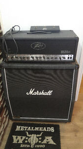 Peavey 6505+ w/ flight case and Marshall cab 1960A 4x12