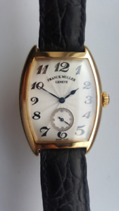 FRANCK MULLER Cintree Curvex 18 k solid yellow gold. 7502 S6