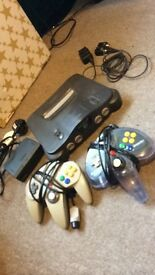 N64 console + 2 controllers