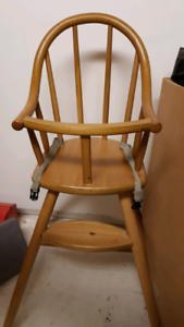Simple wooden high chair