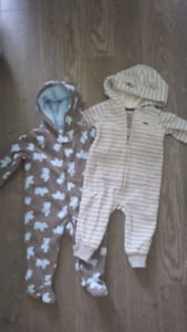 Carter's Hooded fleece jumpsuit - almost new!