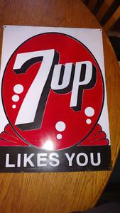 Vintage Metal 7up Sign