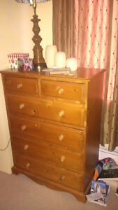 Wardrobe, dresser and end tables