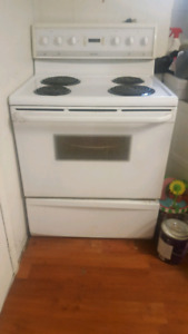 White electric stove