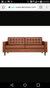 Eq3 reverie leather couch (real premium leather)