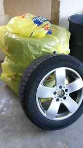 "225/55R16 Michelin X-Ice Snowtires & 16"" Mercedez Replica Wheels"