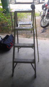 """Four foot aluminum step ladder. $30 """"SOLD"""""""