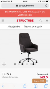chaise de bureau Tony structube