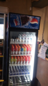 Single glass door Pepsi fridge for sale