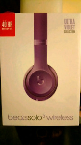 Beats Solo 3 Wireless Ultra Violet Headphones Brand New/ Sealed