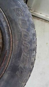 SET OF 4  WINTER TIRES ON RIMS 195/65R15--$350 O.B.O London Ontario image 1