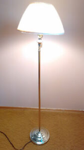 Brass Floor Lamp with Swivel Neck