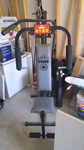 York 4180 home workout gym 180lb system