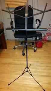 2 Folding music stands (black)