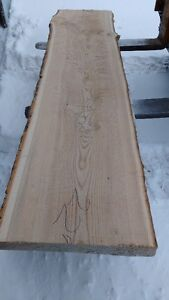 "Ash for Sale -  Live Edge Slab 3"" thick"