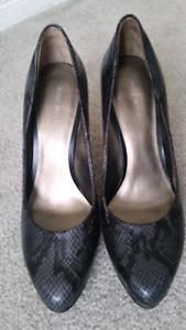 Nine West snake skin print heels