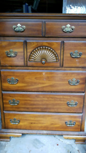 Solid wood Antique Tall Boy/Dresser/Wardrobe