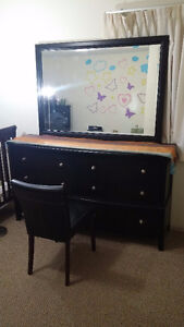 6-Drawer Dresser with Mirror and lovely chair