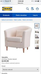 IKEA Tullsta chairs with slip cover $60