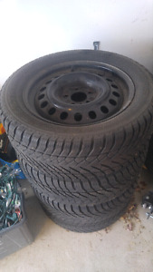 Set of Four 17 Inch Steel Wheels off a Mustang