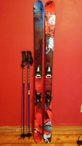Armada El Rey All Mountain Snow Skis with Bindings and Poles